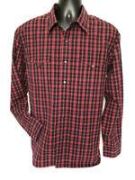 Polo Ralph Lauren Pearl Snap Shirt XL Red Black Plaid Classic Western Rockabilly
