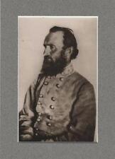 "Confederate General Thomas ""Stonewall"" Jackson in Custom Acid Free Mat"