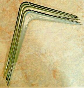 """Utility Gray Steel Shelf Bracket 7"""" x 9"""" Gray [5 Pc]"""