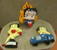 BETTY BOOP VINTAGE KITCHEN MAGNETS CAR INKWELL FLAMES LOT OF 3
