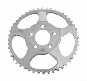 Chrome Dished Star 51 Tooth Rear Sprocket Chain 9.8 mm Offset 73-99 Harley