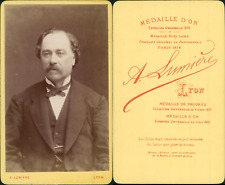 Lumière, Lyon, portrait d'homme CDV vintage albumen Tirage albuminé  6,