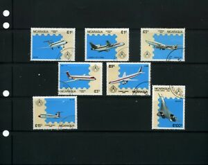 AVIATION OF NICARAGUA,- ''BOEING 747,-CONCORD,- more {7}  1986