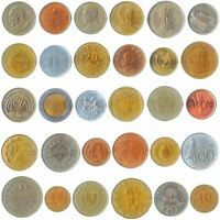 30 COINS FROM DIFFERENT COUNTRIES: AFRICA ASIA, MIDDLE EAST, CARIBBEAN, AMERICAS