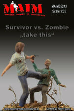 1/35 SURVIVOR VS.ZOMBIE -TAKE THIS Figures High Quality Resin 2 Figures