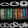 1-8 Row Crystal Rhinestone Stretch Bracelet Bangle Wristband Wedding Bridal Gift