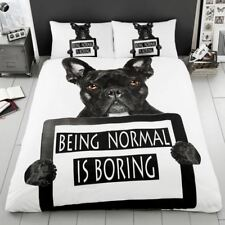 Bouledogue Français Set Housse de couette simple Being normal is mine polycoton