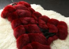 Winter Coat Women Fashion Fox Faux Fur Fluffy Vest High Grade Sleeveless Jacket