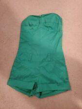 Green Romper Strapless Size S