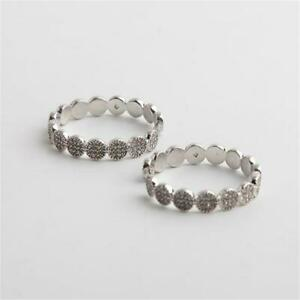 Kate Spade New York Gatsby Hoop Earrings Silver Tone