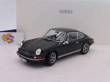 """Norev 187631 # Porsche 911 S Coupe Baujahr 1973 in """" schwarz """" 1:18 NEUHEIT !!"""