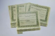 FRANCO RUSSE DES HOUILLERES DE BERESTOW KRINKA 500 FRANCS 4% 1902 X 8 ACTIONS