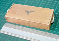 1/6 SCALE GERMAN WWII - WOOD AMMUNITION BOX W/ BADGE LUFWAFFE NOT OPEN-NO ABRE)