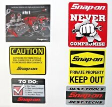 NEW Genuine Official Snap On Tools 6 Piece Decal Sticker Set #2 - FREE S/H