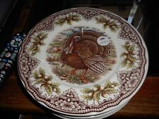 """New Victorian English Pottery Turkey 11"""" Dinner Plate (s)"""