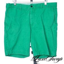 VACATION J. Press York Street Bright Apple Green Flat Front Cotton Shorts 34 NR