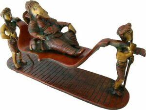 Lord Ganesh Palkee Palki Palanquin Brass Idol Sculptures Home Decor Gift Item