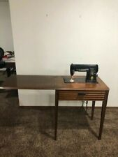Vintage Singer Sewing Machine 301 and Fold Up Table Desk