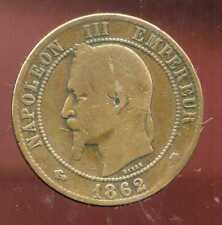 FRANCE  FRANCIA   10 centimes NAPOLEON III   1862 A  (8)