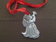 Pewter Angel Necklace Pendant or Ornament