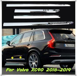 Chrome Car Body Door Side Molding Cover Trim Garnish For Volvo 2016-2020 XC90