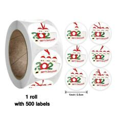 500pcs Merry Christmas Thank You Stickers Envelope Gift Cards Package Seal Label