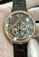 Arnold & Son Time Pyramid Skeleton 18K Rose gold watch leather 1TPAR.S01A.C124A
