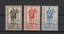 statue équestre 1946 Maroc 3 timbres neufs /T587