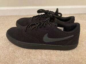 Nike SB Solarsoft Canvas Black on Black shoes sz 11