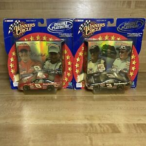 Hasbro Winner's Circle Double Platinum Dale Earnhardt Sr. And Jr Collector Cars