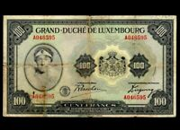 LUXEMBOURG 100 Francs 1934 P-39