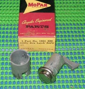 1959 Plymouth Savoy Belvedere Sport Fury NOS MoPar GLOVE BOX DOOR LATCH W/O KEY