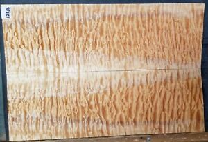 Quilted Maple Wood 12586 Luthier 5A Solid Body Guitar Top Set 23 x 15.25 x .375