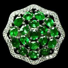TOP COLOR TSAVORITE RING : Natürliche Grün Tsavolith Granat Ring 925 Silber R143