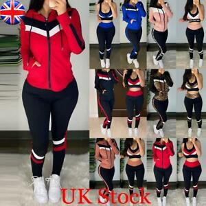 3pcs Women Sports Fitness Workout Tracksuit Ladies Gym Vest Top Legging Pant Set