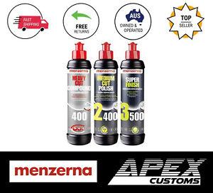 Menzerna 3 Step 250ml Cutting Polishing Finishing Paint Correction Compound