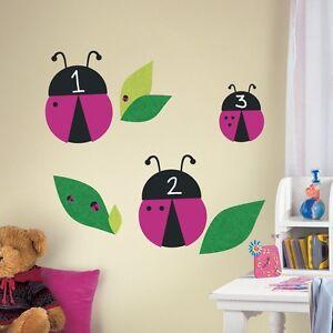 LADYBUGS CHALKBOARD WALL DECALS Lady Bug Stickers Classroom or Kids Room Decor