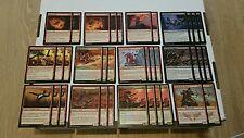 Magic negro rojo down Unearth Deck! 60 tarjetas empezar directamente