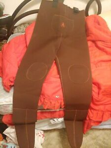 PROLINE~Brown OVERALL BIB CHEST WADERS~Adult LARGE
