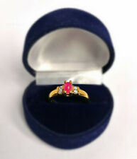 1.25 Ct Ruby Diamond 9 Ct Gold Ring (Size 0) RRP £399.95