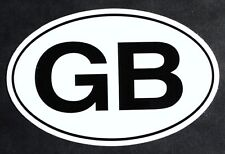 'GB' Euro oval bumper sticker Mini Cooper MG British moto vinyl sports car decal
