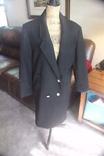 DAVID BENJAMIN COLLECTION WOOL WOMEN SIZE 6 JACKET COAT VINTAGE URUGUAY BLACK