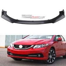 Front Bumper Lip Splitter For Honda Civic Sedan Si 2013 2015 9th Carbon Fiber Fits 2013 Honda Civic Si