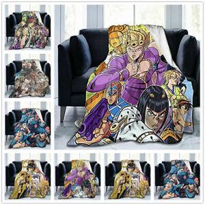 JoJo's Bizarre Adventure Flannel Blanket Sofa Throw Office Blanket Soft Warm