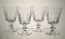 """NELSON CLAPPERTON CRYSTAL Water Goblets 5 1/4"""", SET of FOUR"""