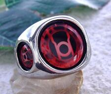 RED LANTERN CORPS RING STEEL ORANGE BLUE SILVER DC COMICS GREEN SUPER HEREO N50