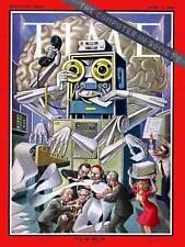 Science magazine cover computer society robot bureau art imprimé posterbb 7323B