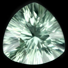 8.25 CT. NATURAL AAA GREEN AMETHYST TRILLION CONCAVE CUT 13.1 X 13.1 X 8.4 MM.