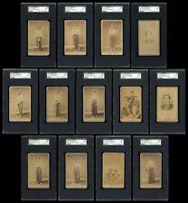 1866 Rock Island Wapellos - 13 Different CDVs - Earliest Set of Baseball Cards