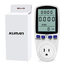 Electricity Power Consumption Meter Energy Monitor Socket Calculator Usage